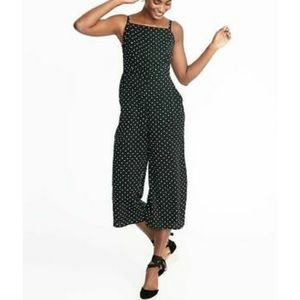 Old Navy black and white dot jumpsuit